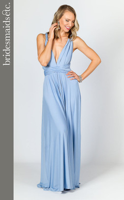 Bridesmaids Etc. Multi Way Wrap Maxi - Powder Blue