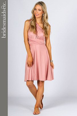 Bridesmaids Etc. Multi Way Wrap Midi - Dusty Pink