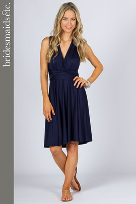 Bridesmaids Etc. Multi Way Wrap Midi - Navy