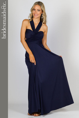 Bridesmaids Etc. Multi Way Wrap Maxi - Navy