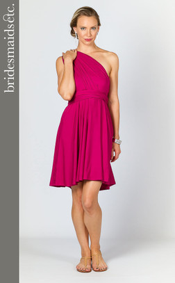 Bridesmaids Etc. Multi Way Wrap Midi - Fuchsia