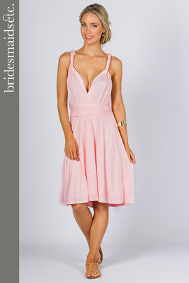 Bridesmaids Etc. Multi Way Wrap Midi - Pale Pink