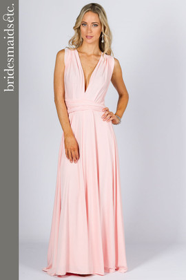 Bridesmaids Etc. Multi Way Wrap Maxi - Pale Pink