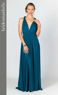 Bridesmaids Etc. Multi Way Wrap Maxi - Pacific Blue