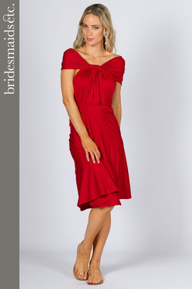 Bridesmaids Etc. Multi Way Wrap Midi - Sangria