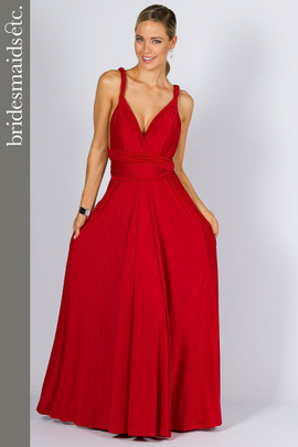 Bridesmaids Etc. Multi Way Wrap Maxi - Sangria