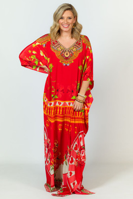 Kaira Embellished Kaftan - Long