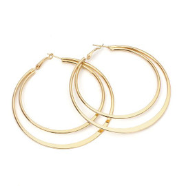 Double Gold Hoops