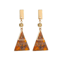 Chocolate Triangle Earrings