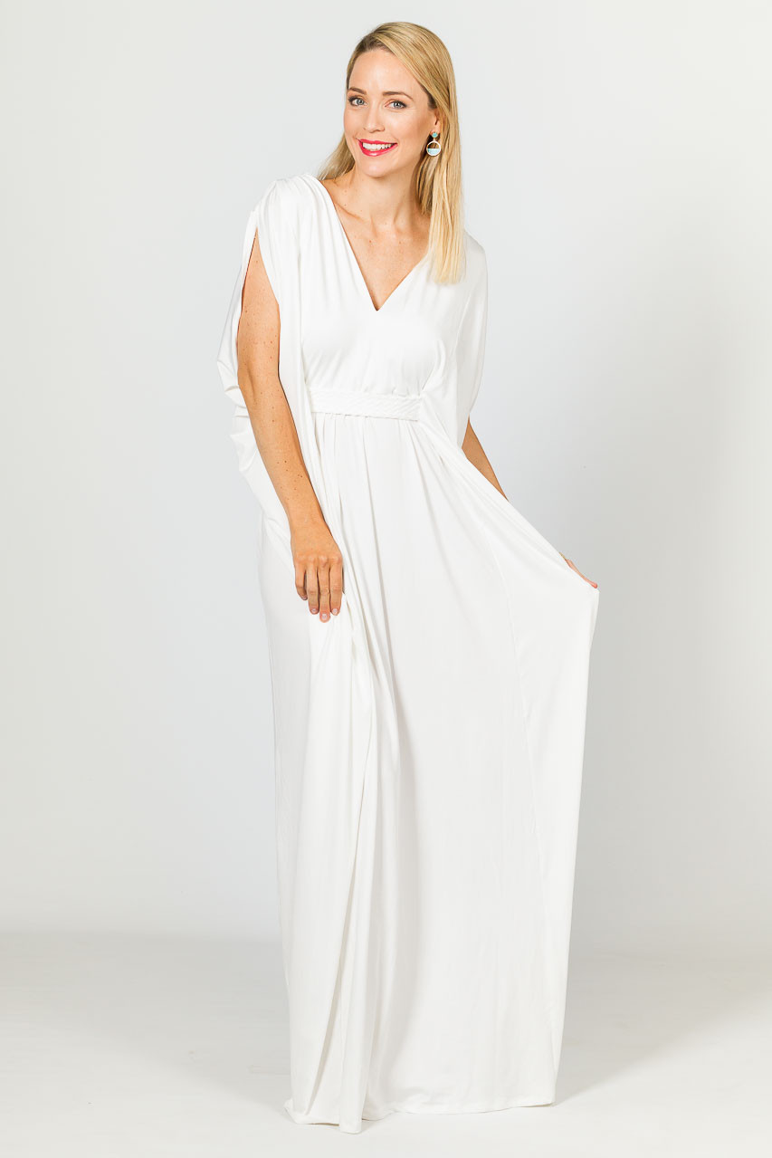 01a8decb42 ... Kaftan Style Maxi Dress - White. Gallery Loading. Image 1