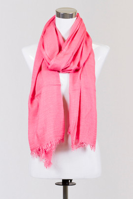 Cotton Candy Coral Scarf