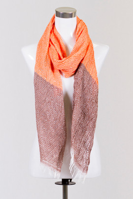 Two Tone Orange Scarf