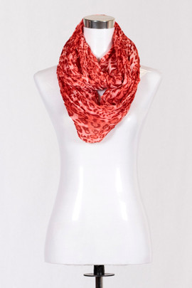 Animal Red Infinity Scarf