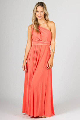 Multi Way Wrap Maxi - Coral