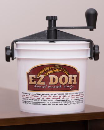 The EZ DOH manual dough mixer in white.