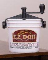 The EZ DOH manual dough mixer in white.