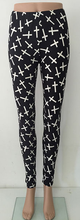 BLACK CROSS PATTERN LEGGINGS-ONE SIZE
