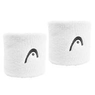"Head Wristband Sweatband Absorption 2.5"" Twin Pack - White"