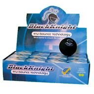 Black Knight Tru-Bounce Single Yellow Dot Squash Balls - 1 Dozen