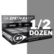 Dunlop Competition Squash Balls - 1/2 Dozen