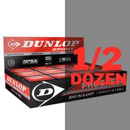 Dunlop Progress Squash Balls - 1/2 Dozen
