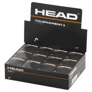 Head Tournament Single Yellow Dot Squash Balls - 1 Dozen