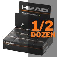 Head Tournament Single Yellow Dot Squash Balls - 1/2 Dozen