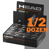 Head Prime Double Yellow Dot Squash Balls - 1/2 Dozen
