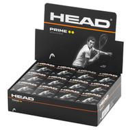 Head Prime Double Yellow Dot Squash Balls - 1 Dozen