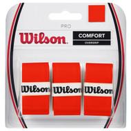 Wilson Pro Overgrip 3 Pack - Burn Orange