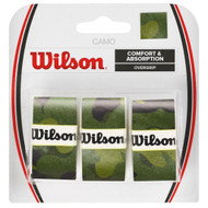 Wilson Camo Pro Overgrips 3 Pack - Green Camouflage
