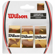 Wilson Camo Pro Overgrips 3 Pack - Brown Camouflage
