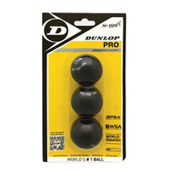 Dunlop Pro Squash Balls - 3 Pack