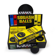 Karakal Elite Double Yellow Dot Squash Balls - 1 Dozen