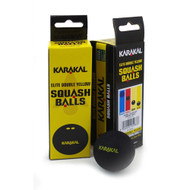 Karakal Elite Double Yellow Dot Squash Balls - 3 Pack