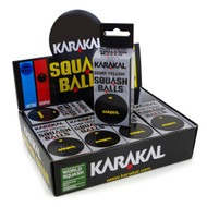 Karakal Comp Single Yellow Dot Squash Balls - 1 Dozen