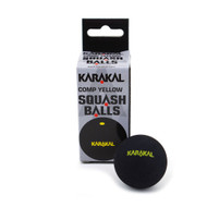 Karakal Comp Single Yellow Dot Squash Balls - 2 Pack