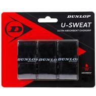 Dunlop U-Sweat Overgrip 3 Pack - Black