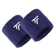Tecnifibre Absorbent Sweatband Wristbands Twin Pack - Navy
