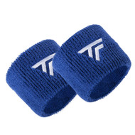 Tecnifibre Absorbent Sweatband Wristbands Twin Pack - Blue