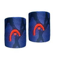 "Head Radical Wristband Sweatband Absorption 2.5"" Twin Pack - Navy"