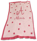Polka Dot Initial Personalized Butterscotch Blankee