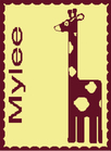 Giraffe Personalized Butterscotch Stroller Blankee