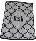 Lattice Design Personalized Butterscotch Stroller Blankee