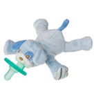 "New! 6"" Blue Puppy WubbaNub with with sewn in Soothie brand pacifier, a Mary Meyer exclusive license. For newborns to 6 months. Latex free. BPA, PVC, and Phthalate free. No cords or clips. Machine wash, air dry. Clear acetate packaging for gift giving."