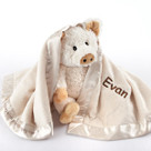 """Pig in a Blanket"" in Adorable Vintage-Inspired Gift Box Two-Piece Baby Gift Set"