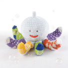 """Mr. Sock T. Pus"" Plush Octopus with 4 Pairs of Socks (Blue)"