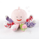 """Mrs. Sock T. Pus"" Plush Octopus with 4 Pairs of Socks (Pink)"