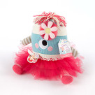 """Clara the Closet Monster"" Baby Bloomers, Headband and Monster Plush Toy Baby Gift Set"
