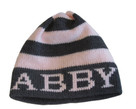 Butterscotch Personalized Knitted Modern Stripe Hat
